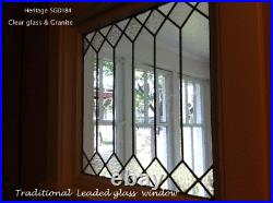 Heritage Leaded glass window. Handcrafed in Clear & obscure glass