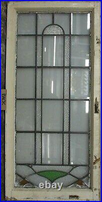LARGE OLD ENGLISH LEADED STAINED GLASS WINDOW Pretty Geometric 19.5 x 40.5