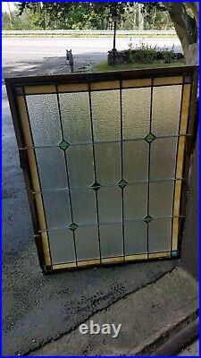 Large Stained Leaded Glass Window, 32 By 42, From A Historic Tavern In Pa