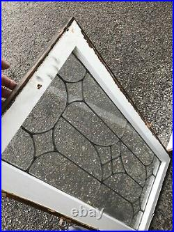 MK 84 two available price separate Antique leaded glass window 18.25 x 35