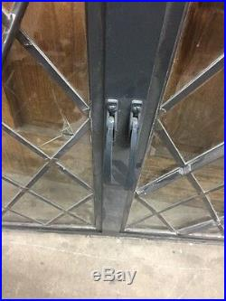 Metal Case Window Leaded Glass Diamonds Tudor Steel sash Window