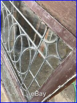 Mk 41 3available price each. Antique elliptical leaded glass window 23.5 x 34.5