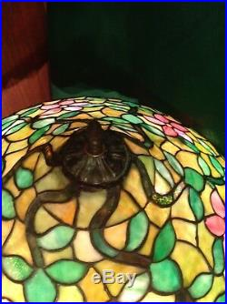 Mosaic shade company 1914 leaded glass rare floor lamp, Handel, duffner, Williamson