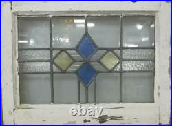 OLD ENGLISH LEADED STAINED GLASS WINDOW Pretty Diamonds Designs 21.5 x 16