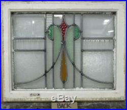 OLD ENGLISH LEADED STAINED GLASS WINDOW Stunning Abstract Sweep 20.5 x 17