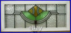OLD ENGLISH LEADED STAINED GLASS WINDOW TRANSOM Abstract Design 33.25 15.25