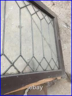 Pa 18 Antique leaded glass window Washington pattern 25 x 30.5