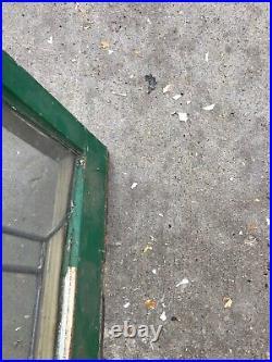 Pa 38 antique leaded glass transom window 21.5 x 34.5
