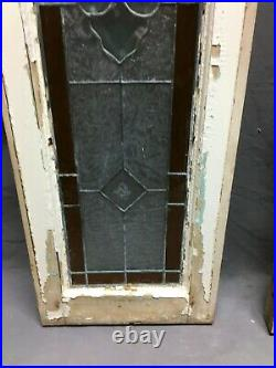 Pair Vintage Leaded Stained Glass Windows Transom Shabby Sidelight Chic 1412-20B