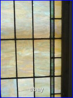 Pearlescent Vintage Antique Church Leaded Stained Glass Windows Tiles 38x96