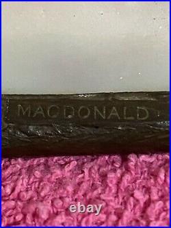 Rare MacDonald Leaded Shade, Bigelow Kennard, Leaded, Slag Shade, Handel Lamp Era