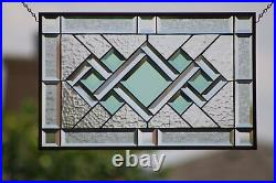 SALE 20% Off ´`-Stained Beveled Glass Window Panel, 22.5x14.5 Ready to Hang