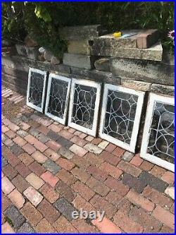 SG2998 5 Av Price each antique leaded glass window 18.5 x 24