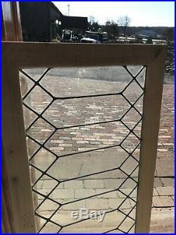 Sg 3231 Antique Leaded glass Transom Window 22.75 x 41.25