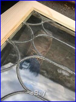 Sg 3231 Antique Leaded glass Transom Window Newframe 18.75 x 24.75