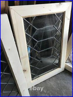 Sg 3511 5 Av Price each antique leaded glass window 19 x 28
