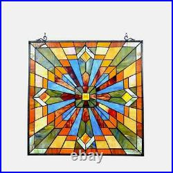 Stained Glass Chloe Lighting Mission Window Panel CH1P037AM24-GPN 24 Inches New