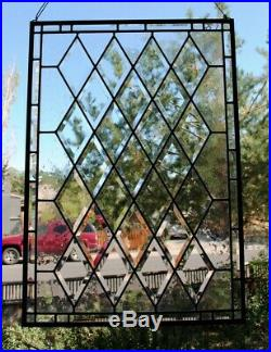 Stained Glass Window Panel Diamond Beveled Leaded custom sizes available