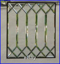 Test of Time Beveled Stained Glass Window Panel 21 3/8 x21 5/8