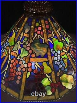 Tiffany Studios Inspired Leaded Glass Hanger Lamp