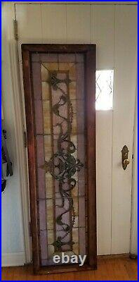 Tremendous Pittsburgh Mansion Antique Stained Glass Great Window, 59 Jewels