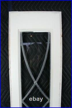 Vintage Framed Sidelight Transom Leaded Glass Window Panels Reclaimed 80