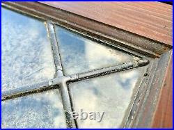 Vintage Lead Glass Cabinet Windows 39x22x1 13lbs A Piece Wall Decor