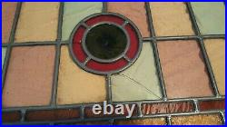 Vintage Stained Glass Window From Haights Ashbury San Francisco Area 1890's