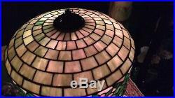 Wilkinson Floral Leaded glass lamp Handel Duffner Tiffany arts & crafts era